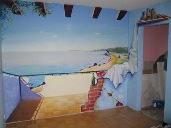 Seinamaal elutoas. elutuba on võimalik avada uue perspektiiviga