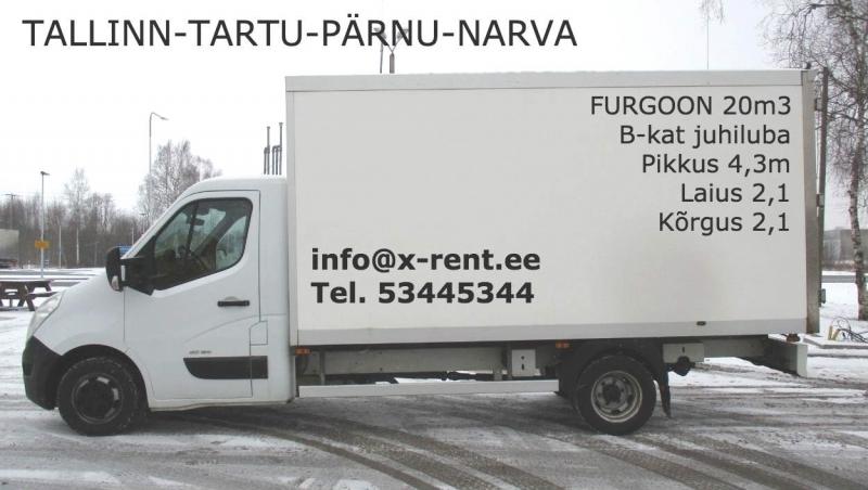 furgoon renault master_xrent_tallinn-tartu