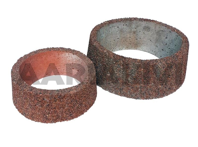 vaas pesubetoonist ümar põhjata 32x12cm, 44x16cm punane kild.