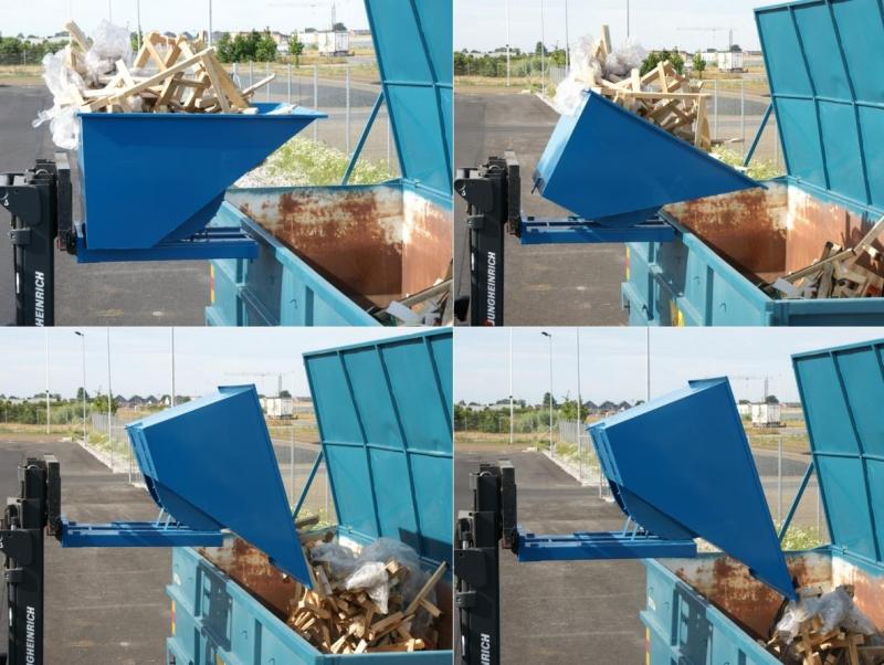 tippo konteiner (automaatse avamise näide)